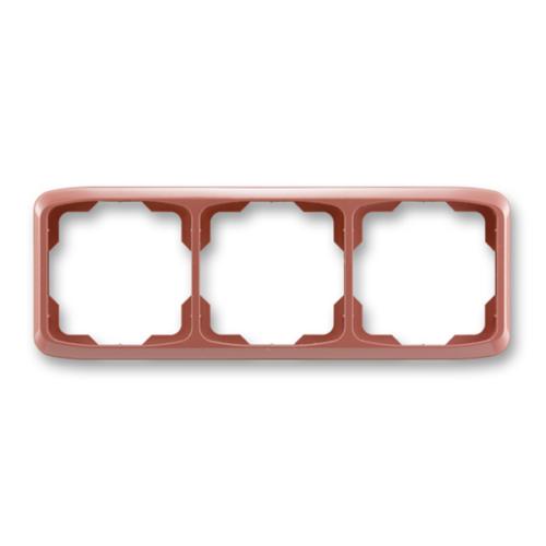 ABB kapcsoló keret 3-as vízszintes Tango Hanga piros (3901A-B30 R2)