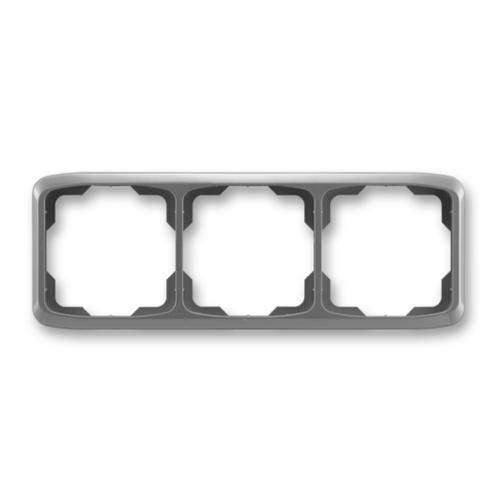 ABB kapcsoló keret 3-as vízszintes Tango Füst szürke (3901A-B30 S2)