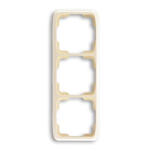 ABB kapcsoló keret 3-as függőleges Tango Csontfehér (3901A-B31 C)
