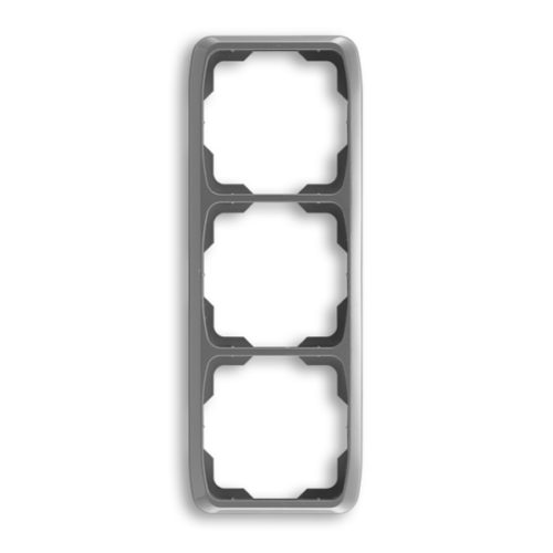 ABB kapcsoló keret 3-as függőleges Tango Füst szürke (3901A-B31 S2)