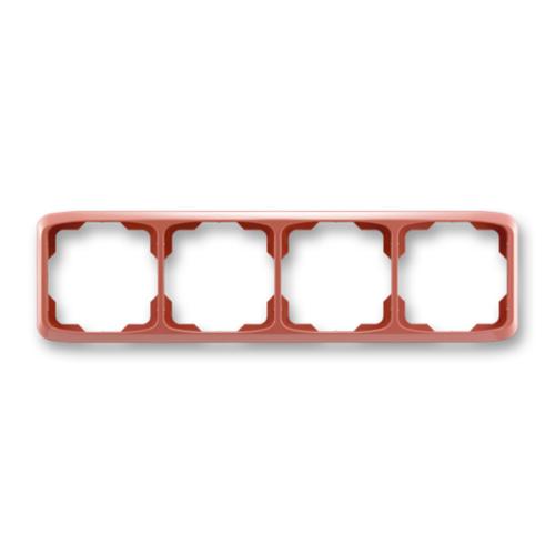 ABB kapcsoló keret 4-es vízszintes Tango Hanga piros (3901A-B40 R2)