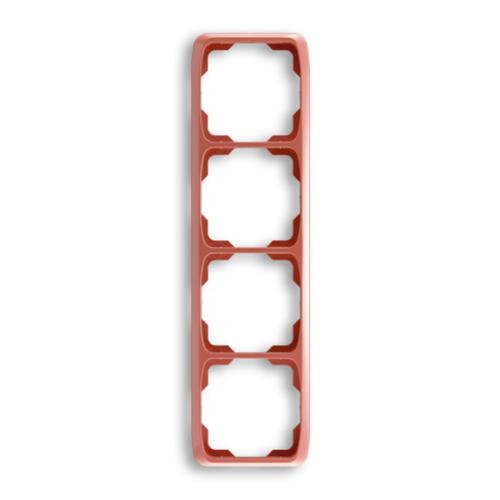 ABB kapcsoló keret 4-es függőleges Tango Hanga piros (3901A-B41 R2)