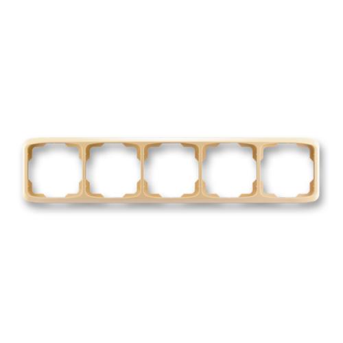 ABB kapcsoló keret 5-ös vízszintes Tango Bézs (3901A-B50 D)