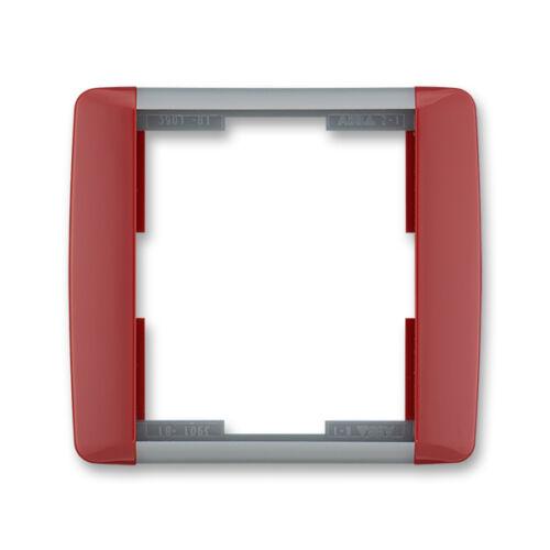 ABB kapcsoló keret 1-es Element Kármin vörös / Hideg szürke (3901E-A00110 24)