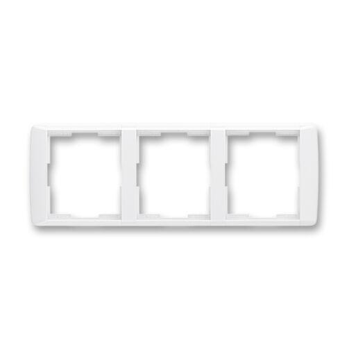 ABB kapcsoló keret 3-as vízszintes Element Fehér / Fehér (3901E-A00130 03)