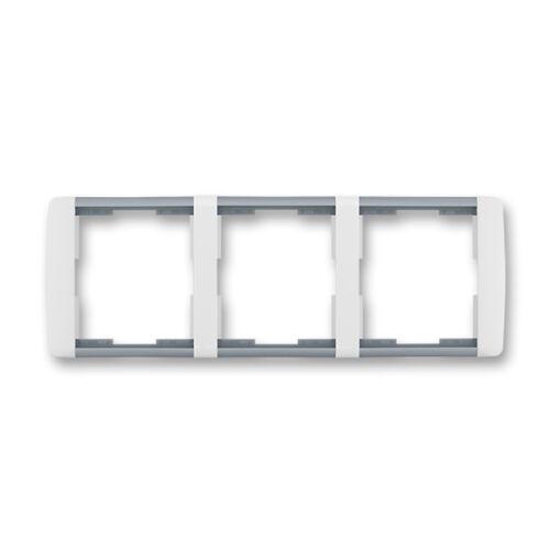 ABB kapcsoló keret 3-as vízszintes Element Fehér / Hideg szürke (3901E-A00130 04)