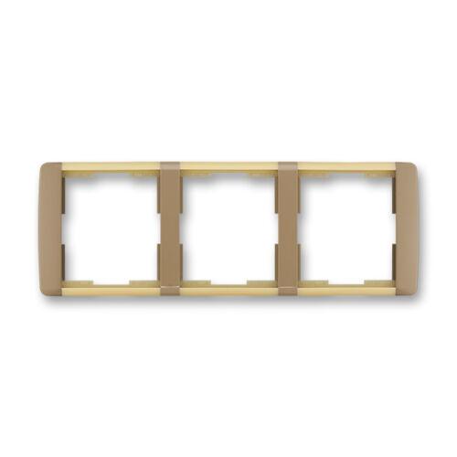 ABB kapcsoló keret 3-as vízszintes Element Kávé barna / Opál (3901E-A00130 25)