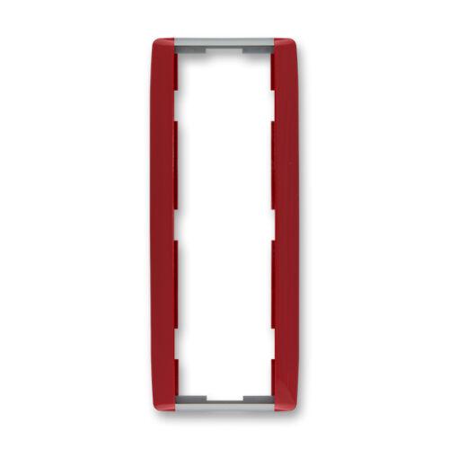 ABB kapcsoló keret 3-as függőleges Element Kármin vörös / Hideg szürke (3901E-A00131 24)
