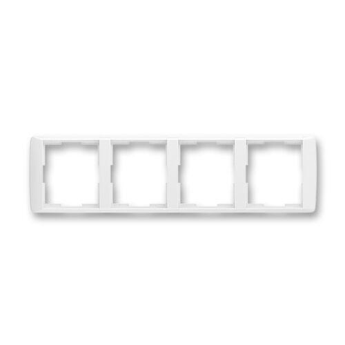 ABB kapcsoló keret 4-es vízszintes Element Fehér / Fehér (3901E-A00140 03)