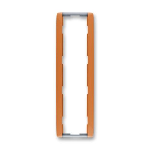 ABB kapcsoló keret 4-es függőleges Element Karamell / Hideg szürke (3901E-A00141 07)
