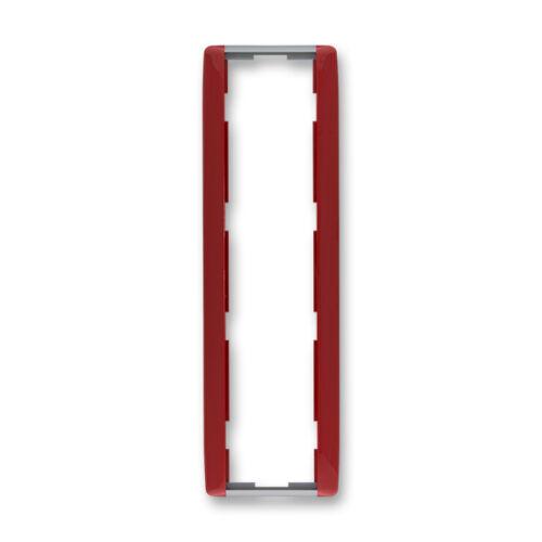 ABB kapcsoló keret 4-es függőleges Element Kármin vörös / Hideg szürke (3901E-A00141 24)