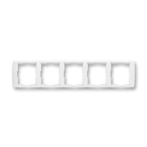 ABB kapcsoló keret 5-ös vízszintes Element Fehér / Fehér (3901E-A00150 03)