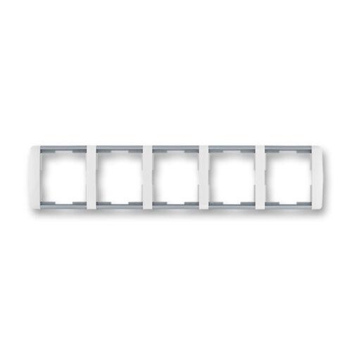 ABB kapcsoló keret 5-ös vízszintes Element Fehér / Hideg szürke (3901E-A00150 04)