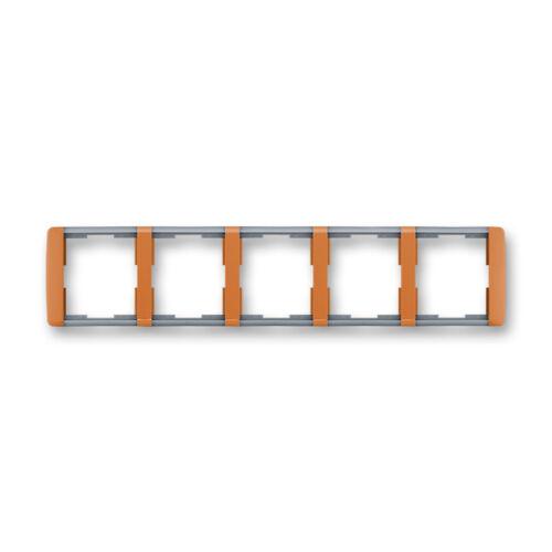 ABB kapcsoló keret 5-ös Element vízszintes Karamell / Hideg szürke (3901E-A00150 07)