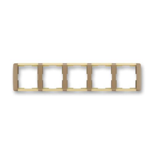 ABB kapcsoló keret 5-ös Element vízszintes Kávé barna / Opál (3901E-A00150 25)