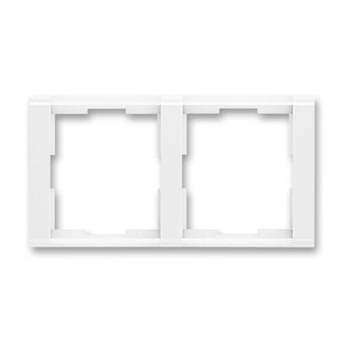 ABB kapcsoló keret 2-es vízszintes Time Fehér / Fehér (3901F-A00120 03)