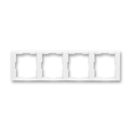 ABB kapcsoló keret 4-es vízszintes Time Fehér / Fehér (3901F-A00140 03)