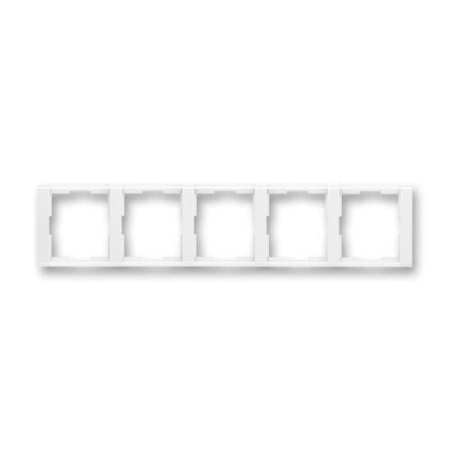 ABB kapcsoló keret 5-ös vízszintes Time Fehér / Fehér (3901F-A00150 03)