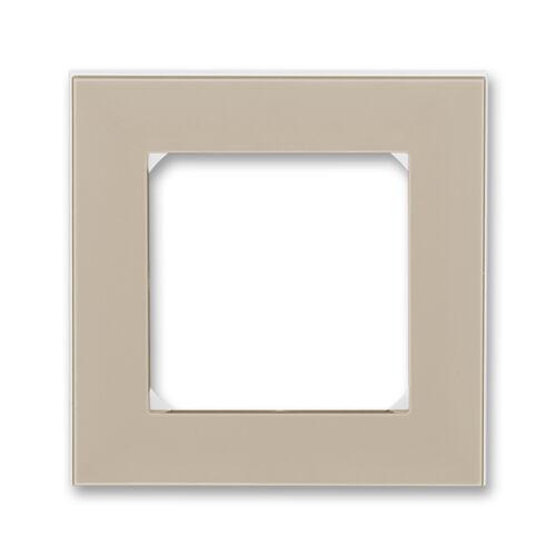 ABB kapcsoló keret 1-es Levit Macchiató / Fehér (3901H-A05010 18)
