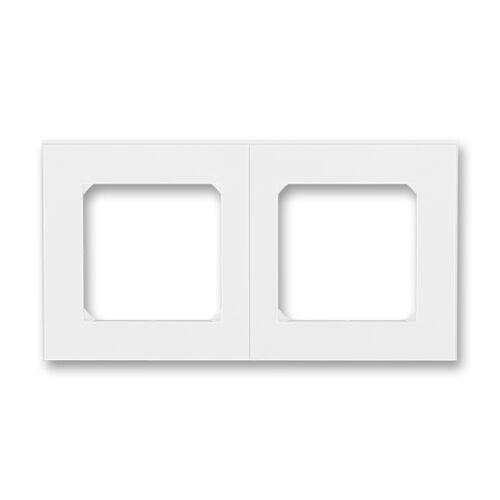 ABB kapcsoló keret 2-es Levit Fehér / Fehér (3901H-A05020 03)