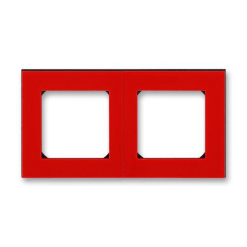 ABB kapcsoló keret 2-es Levit Piros / Fekete (3901H-A05020 65)
