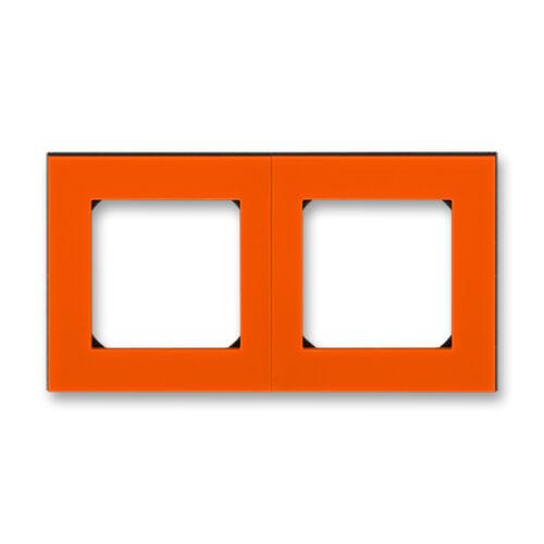 ABB kapcsoló keret 2-es Levit Narancs / Fekete (3901H-A05020 66)