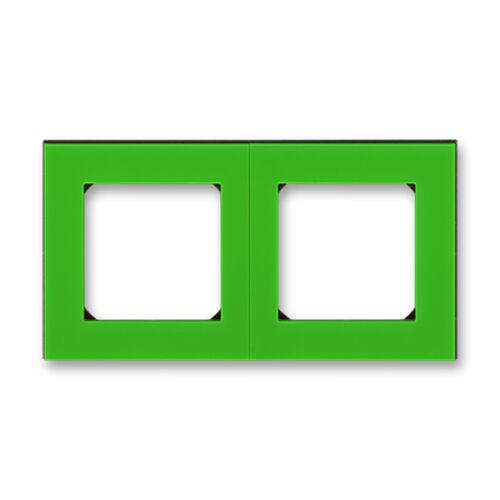 ABB kapcsoló keret 2-es Levit Zöld / Fekete (3901H-A05020 67)