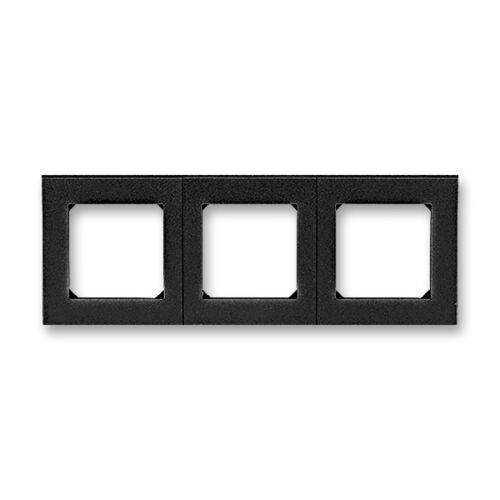 ABB kapcsoló keret 3-as Levit Onix / Fekete (3901H-A05030 63)