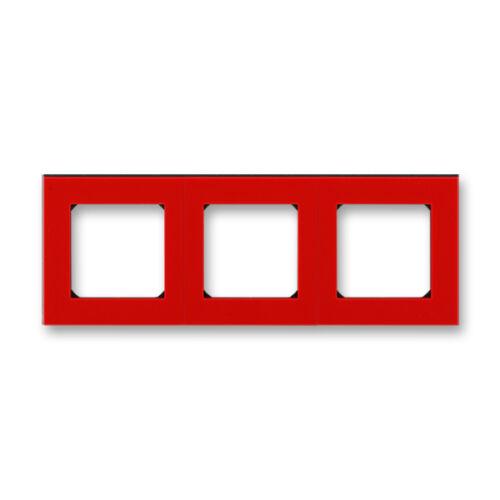 ABB kapcsoló keret 3-as Levit Piros / Fekete (3901H-A05030 65)
