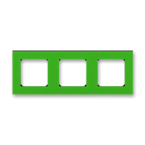 ABB kapcsoló keret 3-as Levit Zöld / Fekete (3901H-A05030 67)