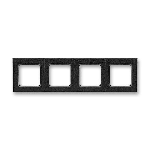 ABB kapcsoló keret 4-es Levit Onix / Fekete (3901H-A05040 63)