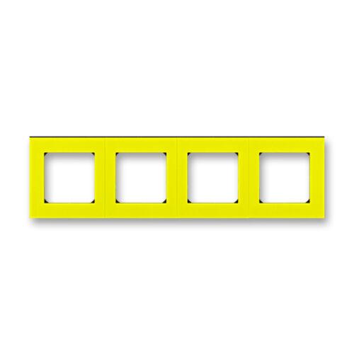 ABB kapcsoló keret 4-es Levit Sárga / Fekete (3901H-A05040 64)