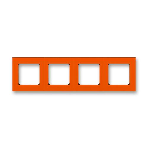 ABB kapcsoló keret 4-es Levit Narancs / Fekete (3901H-A05040 66)