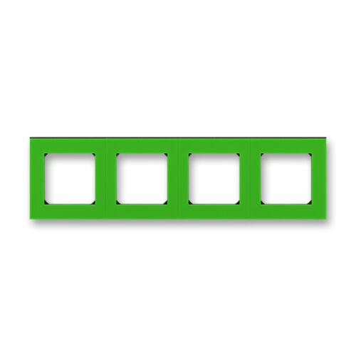 ABB kapcsoló keret 4-es Levit Zöld / Fekete (3901H-A05040 67)