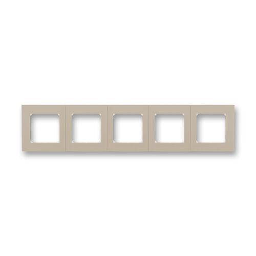 ABB kapcsoló keret 5-ös Levit  Macchiató / Fehér (3901H-A05050 18)