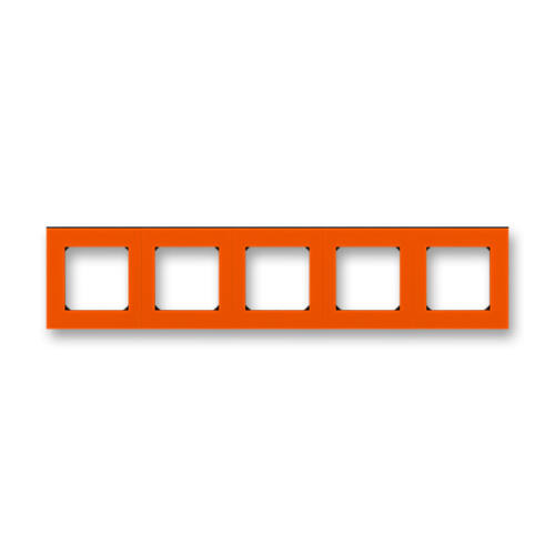 ABB kapcsoló keret 5-ös Levit Narancs / Fekete (3901H-A05050 66)