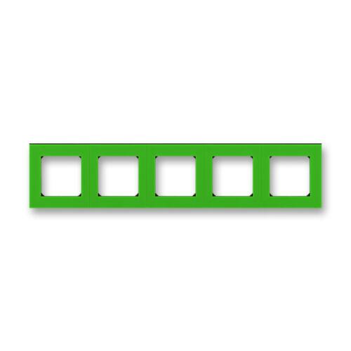 ABB kapcsoló keret 5-ös Levit Zöld / Fekete (3901H-A05050 67)