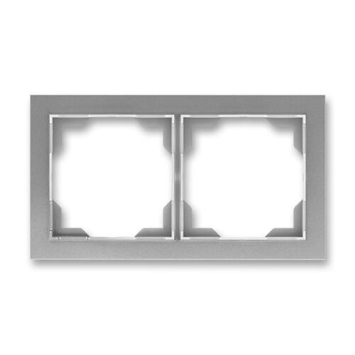 ABB kapcsoló keret 2-es vízszintes Neo Acél szürke (3901M-A00120 36)