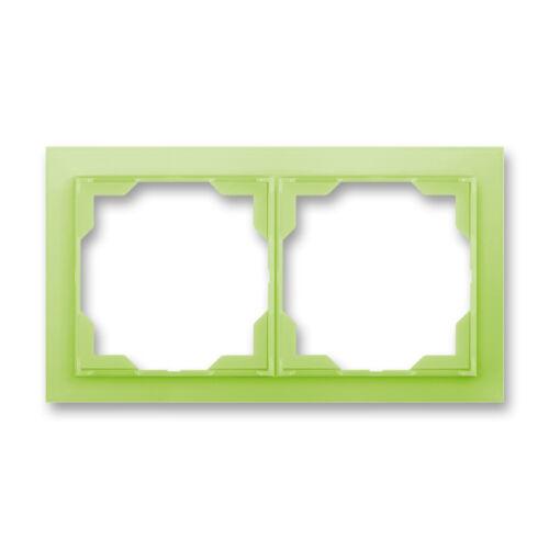 ABB kapcsoló keret 2-es vízszintes Neo Zöld (3901M-A00120 42)