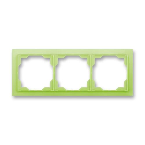 ABB kapcsoló keret 3-as vízszintes Neo Zöld (3901M-A00130 42)