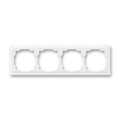 ABB kapcsoló keret 4-es vízszintes Neo Fehér (3901M-A00140 03)
