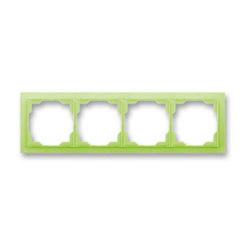 ABB kapcsoló keret 4-es vízszintes Neo Zöld (3901M-A00140 42)