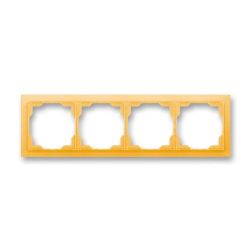 ABB kapcsoló keret 4-es vízszintes Neo Narancs (3901M-A00140 43)