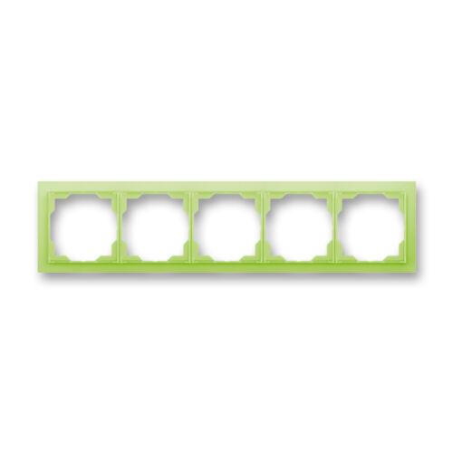 ABB kapcsoló keret 5-ös vízszintes Neo Zöld (3901M-A00150 42)
