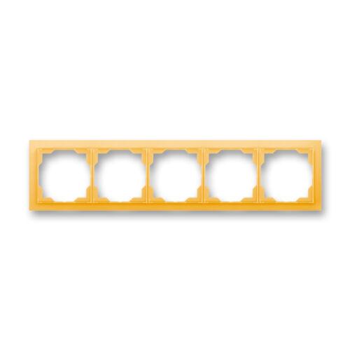 ABB kapcsoló keret 5-ös vízszintes Neo Narancs (3901M-A00150 43)