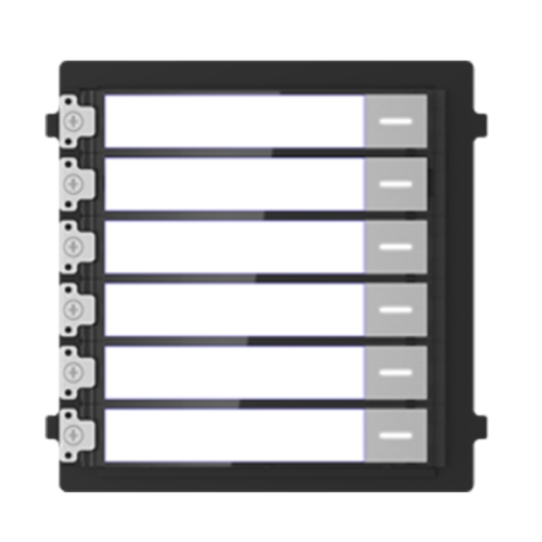 Hikvision DS-KD-KK társasházi IP videó-kaputelefon kültéri 6 lakásos modulegység