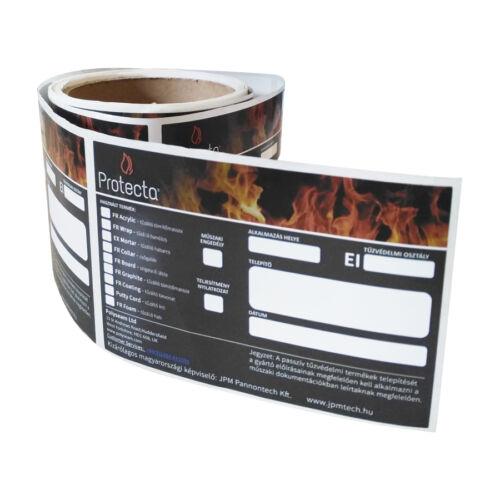 Protecta tűzvédelmi falmatrica 100 db/tekercs