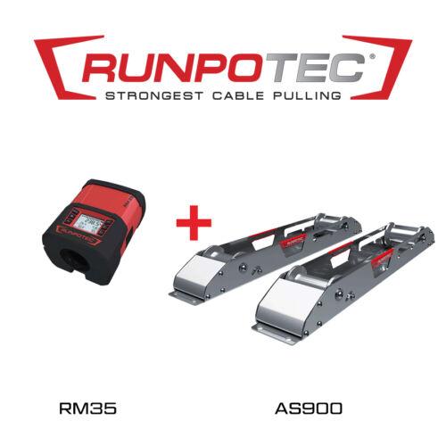 Runpotec AS900 lecsévélő sínek + RM35 kábelhosszmérő (987722)