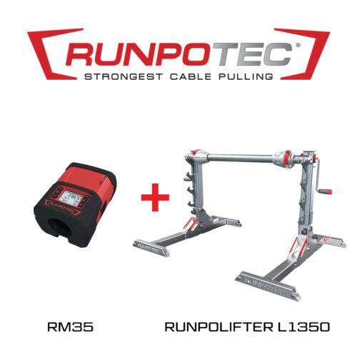 Runpotec RUNPOLIFTER 4500 kábeldobemelő L1350 + RM35 kábelhosszmérő (987724)