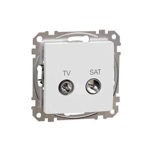 Schneider SDD111474S SEDNA TV/SAT aljzat, átmenő, 7 dB, fehér
